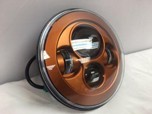 "Harley Davidson 7/"" Whiskey Amber LED Headlight Custom Color Match Daymaker"