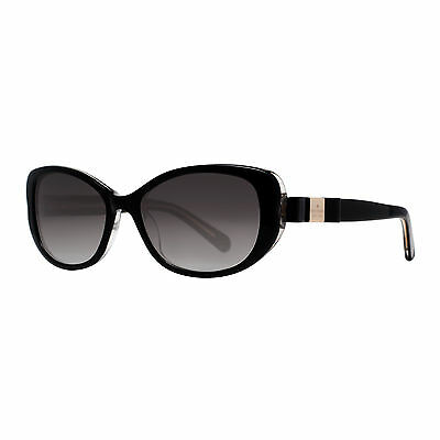 Kate Spade Chandra/S X84 Y7 Shiny Black Glitter Bow Women's Cat eye Sunglasses