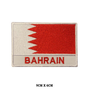 BAHRAIN National Flag Embroidered Patch Iron on Sew On Badge For Clothes etc