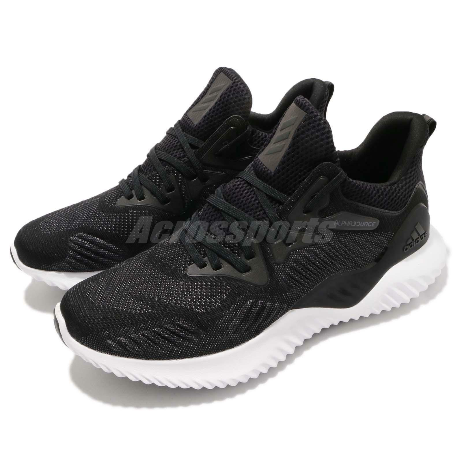 adidas Alphabounce Beyond M Bounce Noir blanc hommes Running Shoes Sneakers AC8273
