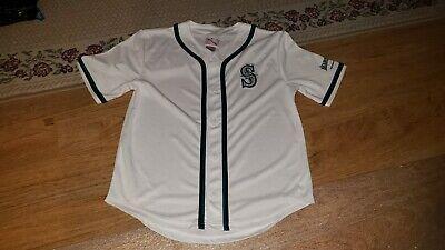 Kids Mariners Jersey Size Small 6//7 Shirt Boys Kids 5T//6T Blue Baseball Seattle