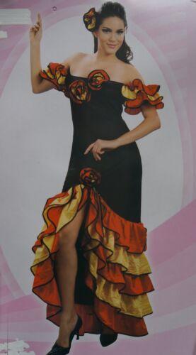 Flamenco WOMANS Fancy Dress Costume spagnolo rumba Pettine per capelli