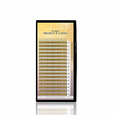Premium 2D Y-Wimpern Lashes B-Curl (mittlere Biegung) vers. Längen ca. 430 Stk