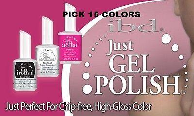IBD Just Gel Polish Nail Soak off CHOOSE 15 COLORS SET 0.5 OZ