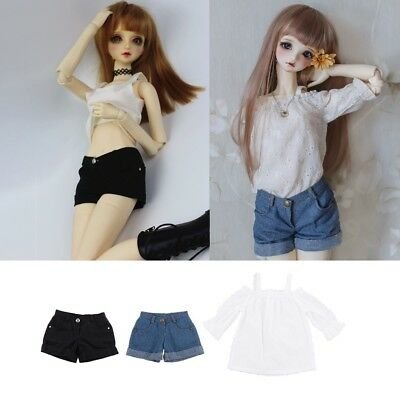 X1 Mimi Collection MSD SD Toy Clothes 1//4 BJD Doll Blue jeans Pants