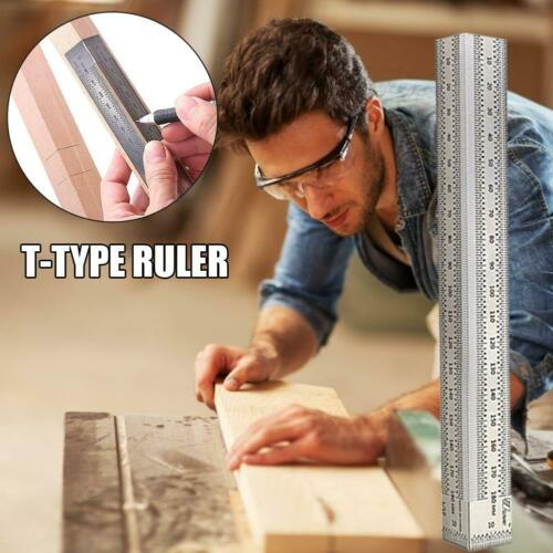 High-precision Scale Ruler T-type Hole Ruler Stainless Woodworking Scribing