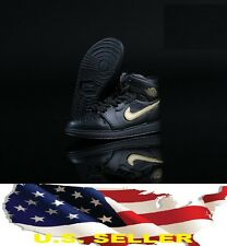 1/6 man sneaker sport shoes Nike air style gold black hot toy phicen ❶US seller❶