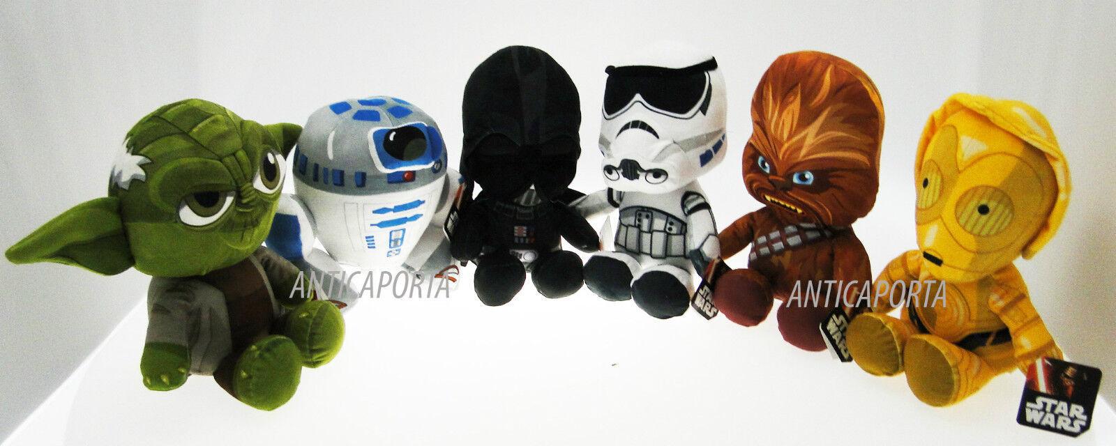 Peluche Star Wars Originaux Il L'éveil della Force Yoda Dart Fener 21-29 cm
