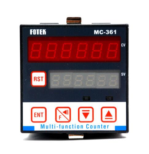 1pc Fotek MC-361 6 Digit Multi-Function Up//Down Counter DIN 72x72 EEPROM Memory
