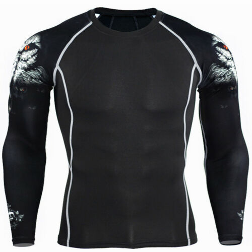 Mens Compression Base Layer Top Thermal Shirt Fitness Gym Sports Leggings Pants