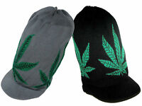 Rastafari Weed Ganja Leaf Selassie Peak Rasta Hat Cap Jamaica Reggae Marley M/l