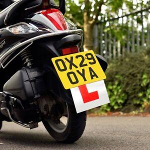 1-Oxford-Motocicleta-Moto-Scooter-Rigido-Duro-L-alumno-placa-OX173-T