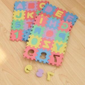 Alphabet Foam Puzzle Floor Mat Kids Play Numbers Letters Number ...