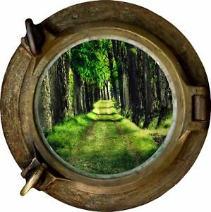 Huge-3D-Porthole-Beautiful-Green-Forest-View-Wall-Stickers-Film-Decal-414