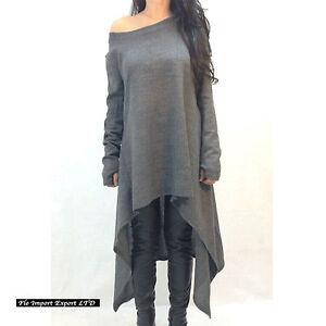 Maglia-Maglione-Lungo-Donna-Asimmetrico-Woman-Autumn-Long-T-shirt-Sweater-561019