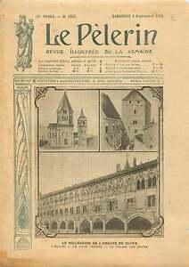 Tour-Abbaye-de-Saint-Pierre-et-Saint-Paul-de-Cluny-France-1910-ILLUSTRATION