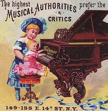 Sohmer Piano New York City NY 1876 Expo Medal Victorian Advertising Trade Card