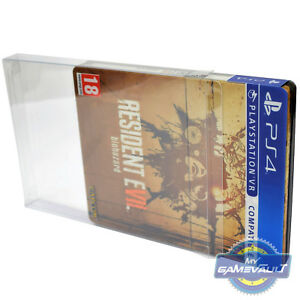 5-x-PS3-PS4-Steelbook-Game-Box-Protectors-STRONG-0-4mm-PET-Plastic-Display-Case