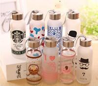 Large 400ml Starbucks Water Bottle Glass Coffee Mug Outdoor Drinking Cup
