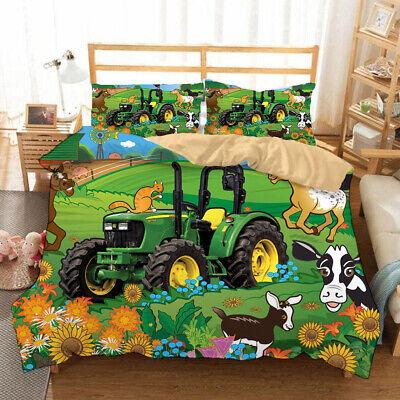 John Deere Bedding Set Vehicle Tractor, Full Size Bedding For Toddler Boy