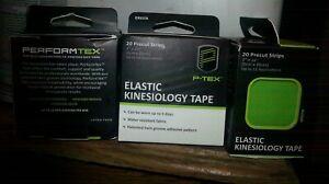 New PTEX Elastic Kinesiology Tape 20 Precut Strips-Orange