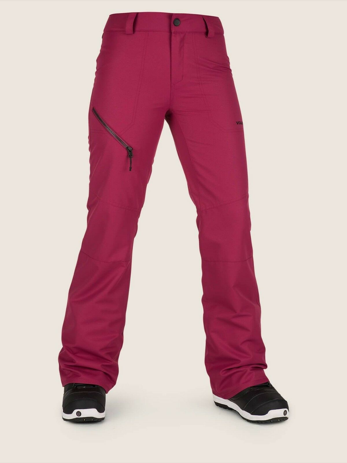 2019 NWT WOMENS VOLCOM HALLEN  PANT  110 S Magenta modern slim fit  will make you satisfied