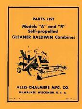 ALLIS CHALMERS A R C T2 T3 AH B  Combine Parts Manual
