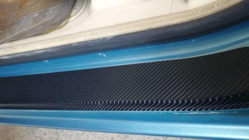 5pcs 3D carbon fiber vinyl sticker Car Trunk Sill Plate Bumper Protector sticker