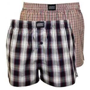 0de9b3c734 Jockey 2-Pack Men's Plaid & Check Print Woven Boxer Shorts, Red/Blue ...