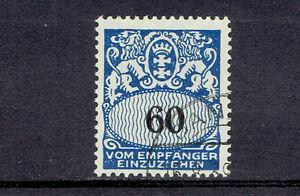 Danzig-Porto-o-MiNr-46-Portomarke-Wappen