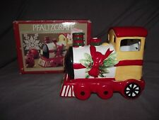 Pfaltzgraff Christmas Heritage Train Engine Pierced Votive Candle Holder w/ Box
