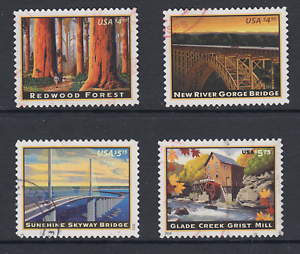 US-Sc-4378-4511-4649-4927-used-2009-2014-Priority-Mail-issues-4-diff-VF