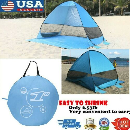 Portable Pop Up Beach Tent Sun Shade Shelter Outdoor Camping Fishing Canopy US