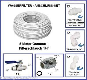 Wasseranschluss Set 1 2 Adapter Osmoseanlage Filter Kuhlschrank