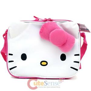 23a4c06e9 Image is loading Sanrio-Hello-Kitty-School-Lunch-Bag-Insulated-Snack-
