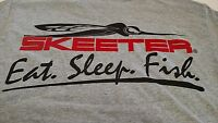 Authentic Skeeter Short Sleeve T-shirt With Eat. Sleep.fish.logo - Medium