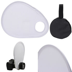 Universal Folding Photography Flash Lens Diffuser Reflector White ...