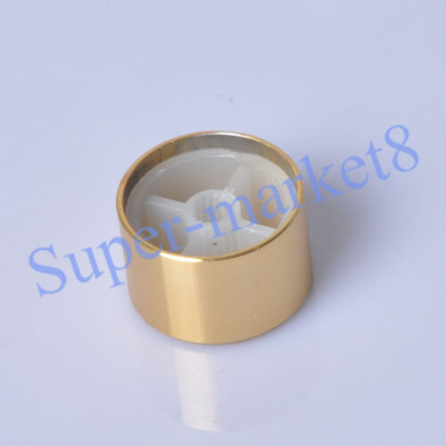 5pc 26x17 Aluminum Knob Gold Spline 6mm Shaft Volume Tone Control Audio AMP Bass