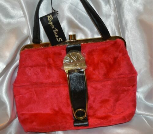 NWT Vintage (1960's) Roger Van S. Purse Red Faux