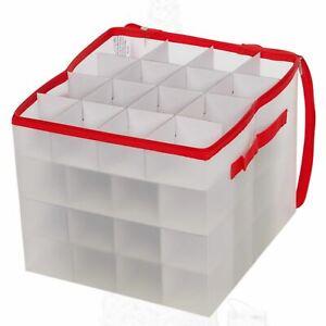 Natale-ALBERO-DI-NATALE-64-DECORAZIONI-Bauble-titolare-grande-scatola-di-plastica-Storage-Bag