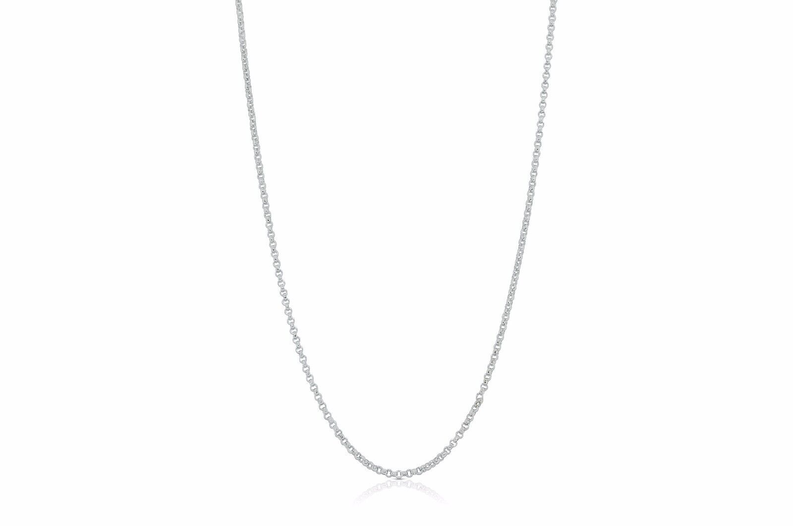 Brand New 18K White gold  15  Cable Chain