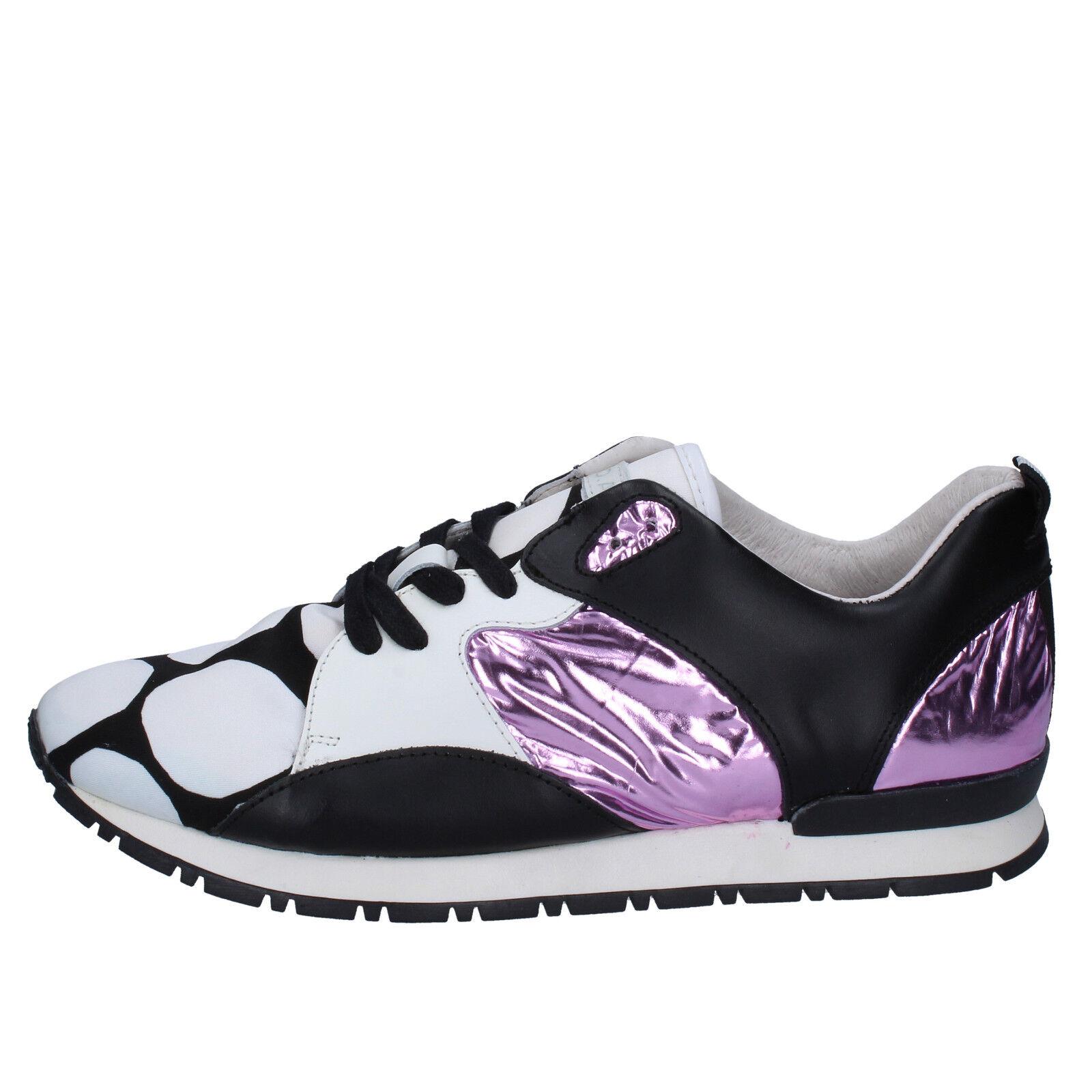 Damens's schuhe D.A.T.E. ( date ) 6 (EU 39) sneakers schwarz WEISS Leder BX72-39