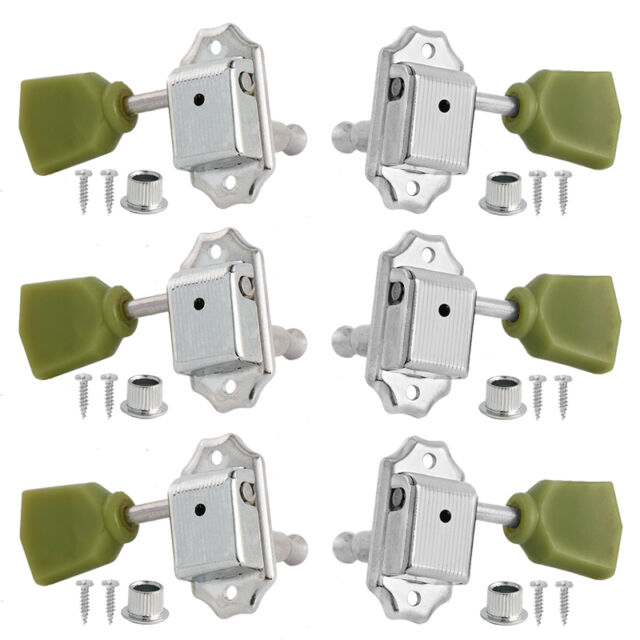 guitar vintage tuning pegs tuners machine heads for gb les paul 3x3 chrome for sale online. Black Bedroom Furniture Sets. Home Design Ideas