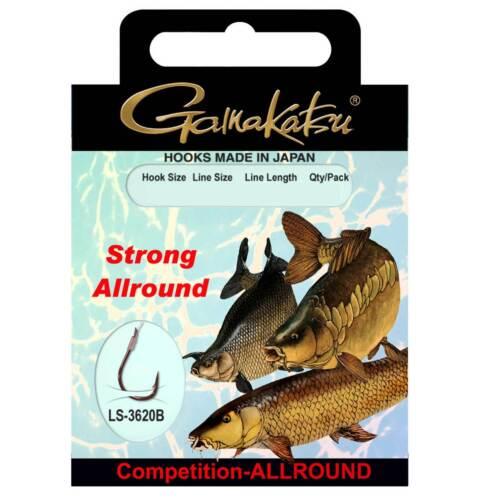 BKD-Allround Strong Gr 12 Gamakatsu Angelhaken mit Vorfach Vorfachhaken