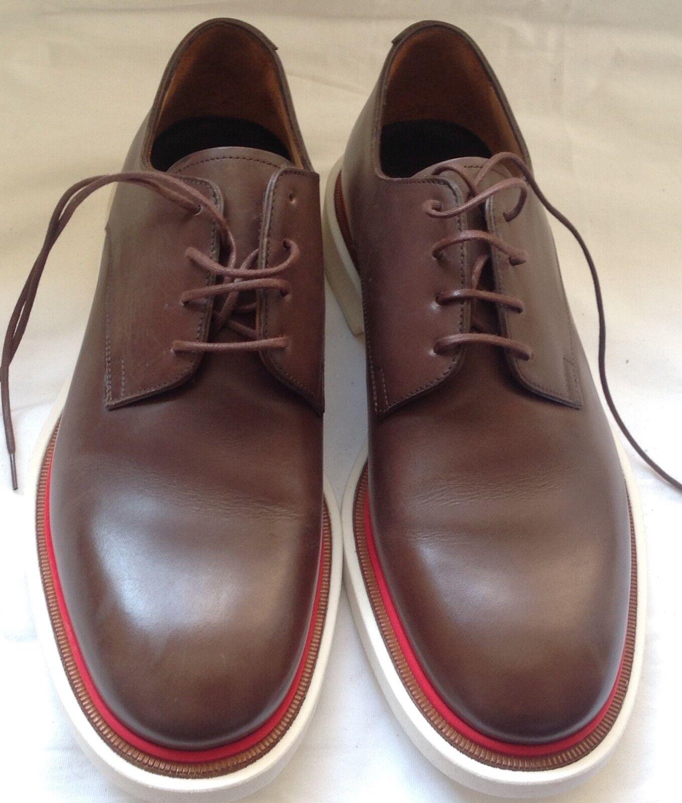 Paul  Smith Men's Derby scarpe Senior Dark Tan  in vendita