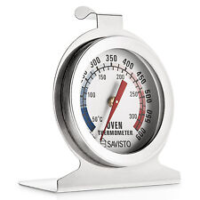 Savisto Stainless Steel Oven Thermometer / Temperature Gauge For Pizza Ovens