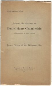 1908-Personal-Recollections-of-Daniel-Henry-Chamberlain-Once-Governor-of-SC