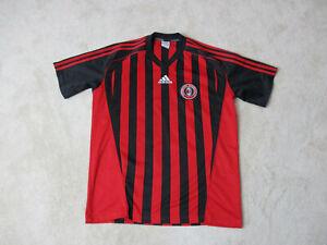 Adidas-AC-Milan-Academy-Soccer-Jersey-Adult-Small-Red-Black-Dri-Fit-Futbol-Mens