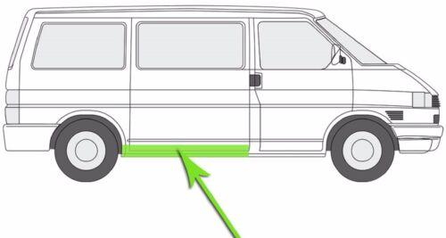 SEITENSCHWELLER SCHIEBETÜRSCHWELLER RECHTS FÜR VW T4 ALLE MODELLEN 1990-2003 NEU