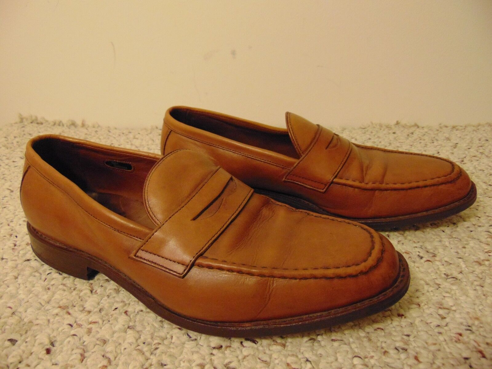 Allen Edmonds Men's McGraw' Penny Loafer tan leather shoes size 11
